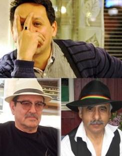 rriba Javier Claure, abajo a la izq. Jorge Laserna y José Hernán Romero (der.)